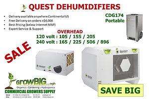 Quest Dehumidifiers @ GrowBIGogh