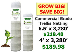 GrowBIG Trellis! 4ft or 6.5ft x 3280ft o