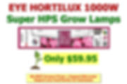 Lamp Eye Hortilux Super HPS 1000W Amazon