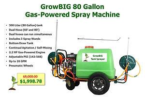GrowBIG 80G Gas Powered Tank Sprayer