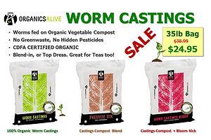 Organics Alive Worm Castings & Amendment