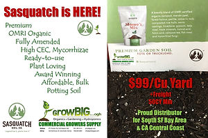Sasquatch Professional Potting Soil only