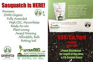 Sasquatch Professional Potting Soil only