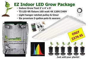 EZ Indoor LED Grow Room Package only $37