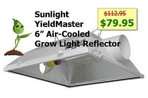 Sunlight SunSystems Systems YieldMaster Master Air Cooled Reflector Sale GrowBIGogh Gilroy CA Outlets Mall