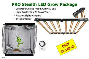 Pro Stealth LED Grow Light & Tent only $