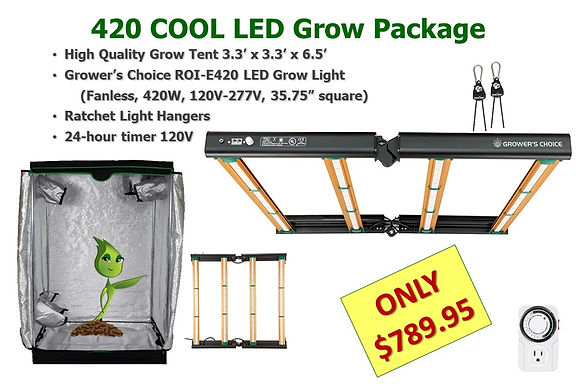 420 Cool LED Grow Light & Tent Package o