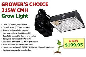 Growers Choice GC-315W CMH Grow Light