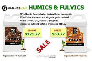 Organics Alive FPT FPF Humic & Fulvic Ma