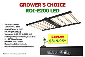 Growers Choice LED ROI-E200 only $319.95