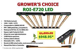 Crower's Choice ROI-e720 LED Grow Light