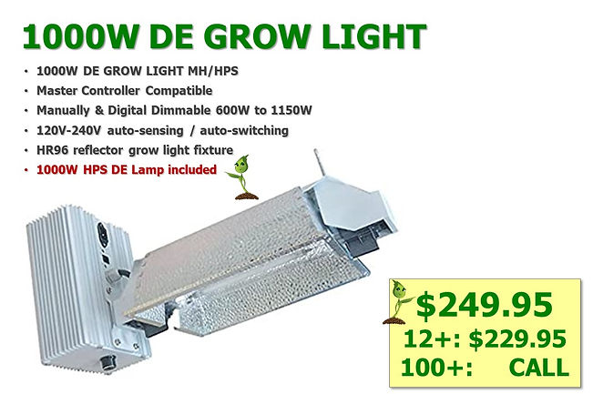 1000W HPS DE Grow Light only $249.95, sa