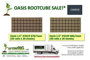 Oasis Sale at GrowBIGogh Salinas and Gilroy