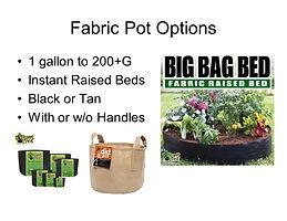 Fabric Pots at GrowBIGogh