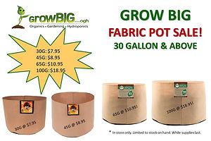 Fabric Pot Sale WHILE SUPPLIES LAST _ Gr