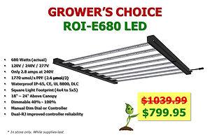 Grower's Choice ROI-e680 LED Grow Light