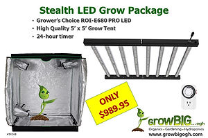 GrowBIG Stealth ROI-e680 Grow Light and Tent Package