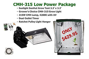 GC Low Power CMH315 Grow Light Tent Pack