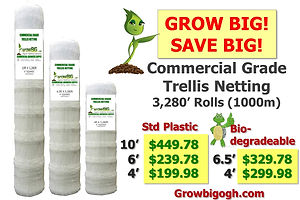 GrowBIG Commercial Grade Trellis Netting - Highest Quality & Lowest Price