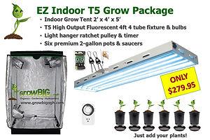 EZ Indoor T5 Grow Room Package only $279