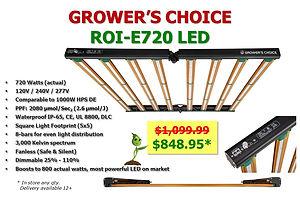 Grower's Choice ROI-e720 on Sale at GrowBIGogh