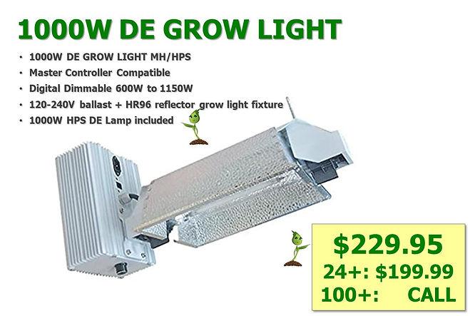 1000W HPS DE Grow Light SALE