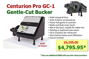 Centurion Pro GC-1 Gentle Cut Bucker only $4395.95 with purchase of any trim shear
