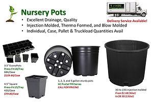 Nursery Pots and Press Fit Trays @ GrowB