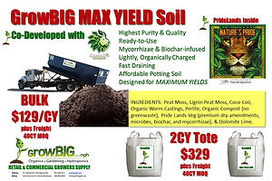 GrowBIG Max Yield Soil AVAILABLE NOW!