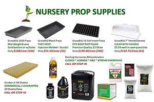 Nursery Propagation Supplies @ GrowBIGog