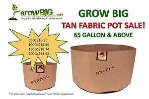 Fabric Pot Sale