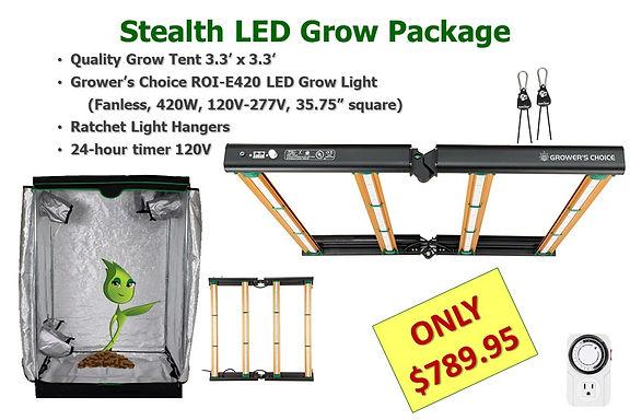 Stealth LED ROI-E420 Grow Light Tent Pac