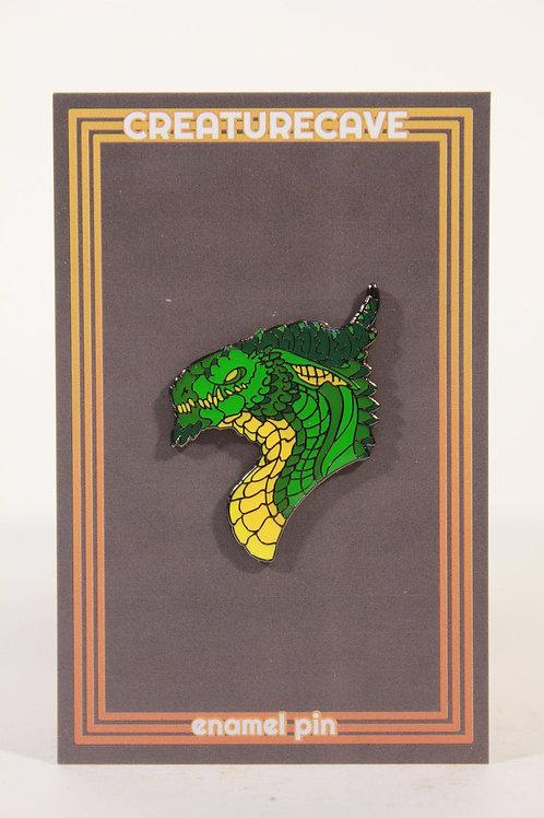 Green Dragon Head Pin