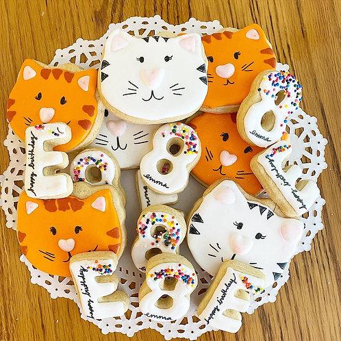 Kitty Cat theme Birthday 3 Dozen Tray