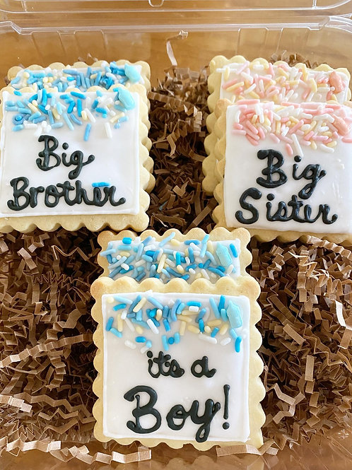 Baby Announcement Sugar Cookies