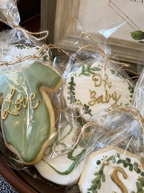 Oh Baby! Neutral Baby Shower Sugar Cookies