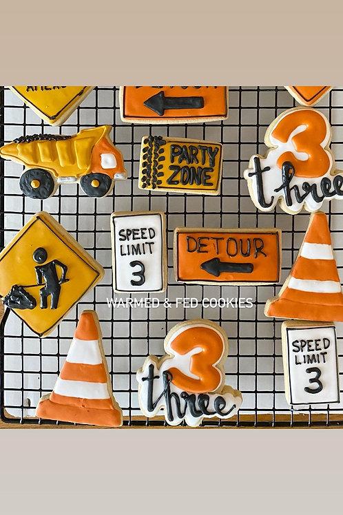 Under Construction Sugar Cookies