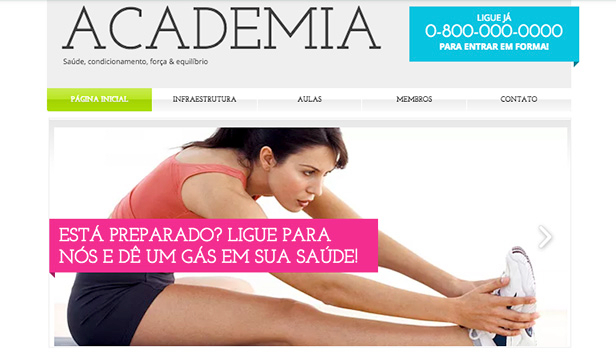 Esportes e Recreação website templates – A Academia
