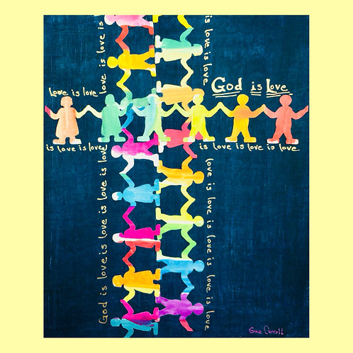 """God is Love is Love"" notecards"