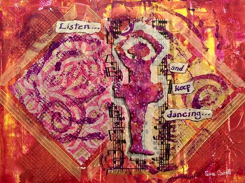 """""""Keep Dancing"""" notecards"""