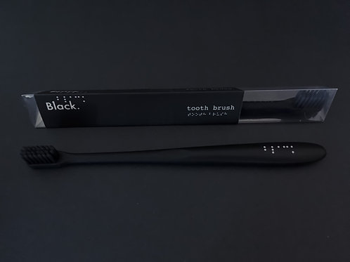 Pack of 2 All Black Travel Toothbrush Available in Soft or Medium