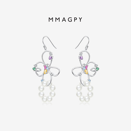 African Lily Earrings | 925 Silver Plated 18K Gold