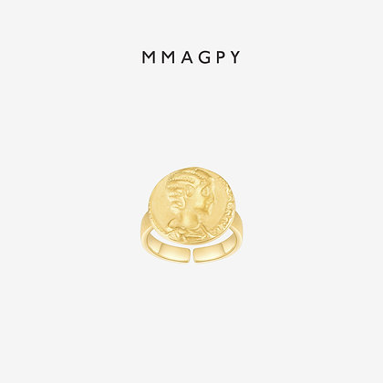 The Golden Coins Ring | 925 Silver Plated 18K Gold