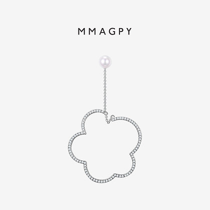 (Pre - Order) Blooming Marshmallow Earring (Single) | 925 Silver Plated 18K Gold