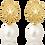 Thumbnail: Patronus Irregular Round Pearl Stud Earrings