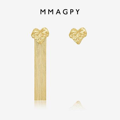 Golden Leaf Tassel Earrings