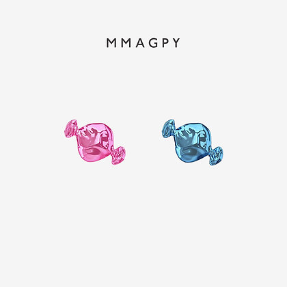 Sugar Rush Earring - Pink, Blue | 925 Silver Plated 18K Gold