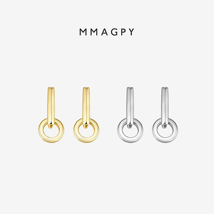 The Hermit Earrings- | 925 Silver Plated 18K Gold