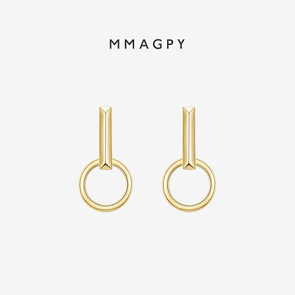 The Hermit Earring+ (Single) | 925 Silver Plated 18K Gold