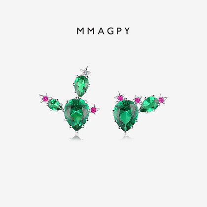 Cactus in the Greenhouse Earrings | 925 Silver Plated 18K Gold